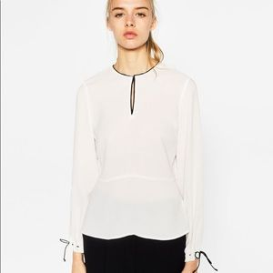 Zara Blouse with Contrast Details